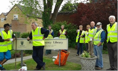 Oakham In Bloom Volunteers Take a Break