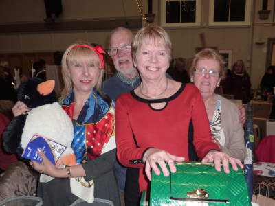 Pippy, Chris, Marilyn and Jackie at Oakham's Late Night Shopping