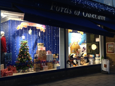 Fords of Oakham's winning window display in 2014.