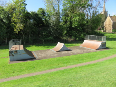Oakham Skatepark in the grounds of Cutt's Close