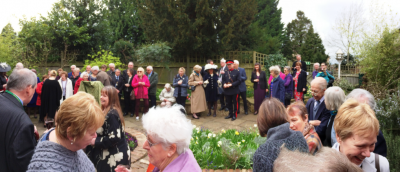 Guests at the unveiling of the Jeffery Hudson statue